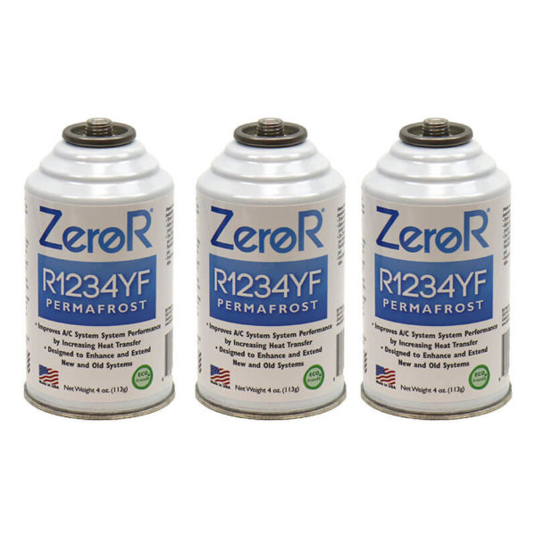 ZeroR<sup>®</sup> R1234YF PERMAFROST AC Performance Booster - 3 Cans