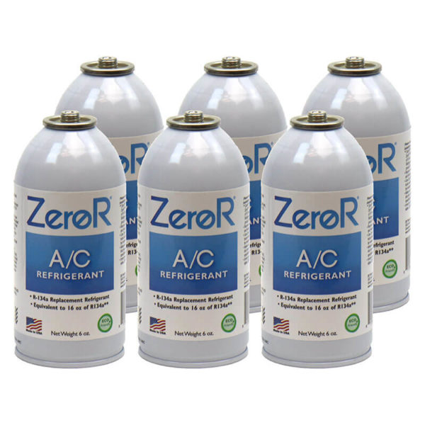ZeroR<sup>®</sup> Universal AC Refrigerant – R134a Replacement – 6 Cans